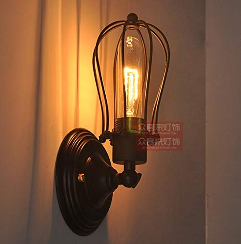 Gotian -Wall Sconce Lighting Metal Industrial Wall Light Shade Vintage Style US Stock for Party Holiday Bedroom KItchenroom Garden Decor
