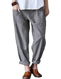 Women's Casual Corduroy Pant w/ Unique Pockets
