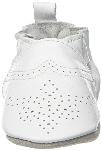 Robeez Unisex Baby Chic & Smart Krabbelschuhe Weiß (Blanc)