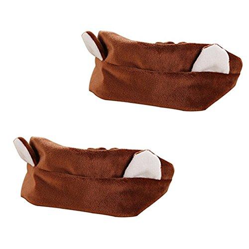 [SAKUYV Girl's Makeup Cat's Ear Etti Hair Band,Pack of 2 (Brown)] (Brown Cat Ears)