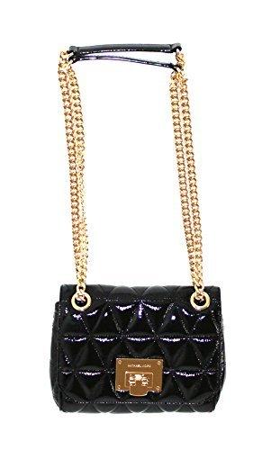 MICHAEL Michael Kors VIVIANNE Small Women's Shoulder Flap Leather Handbag (Black)