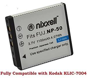 SNS-Nixxell Battery for Kodak KLIC-7004 Kodak EasyShare M1033, M1093, M2008, PlayFull Dual, PlaySport, PlayTouch, V1073, V1273, V1233, V1253, Zi8, Zx3, Zi12 Cameras