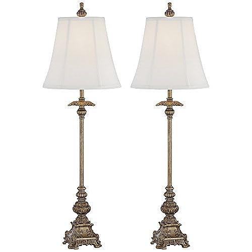 Juliette gold buffet table lamps set of 2