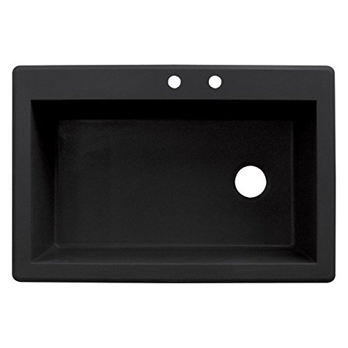 Acrylic Single Bowl Kitchen Sink - Transolid RTSS3322-09-CD Radius Granite 2-Hole Drop-in Single Bowl Kitchen Sink, 33