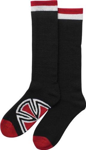 Independent Bar/Cross Crew Socks Black 2 Pair Bundle