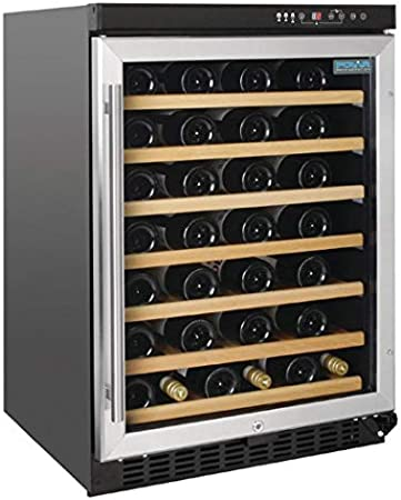 54 botellas,Ciclos de desescarche automáticos,Control por panel táctil,Pantalla LED,Con cerradura