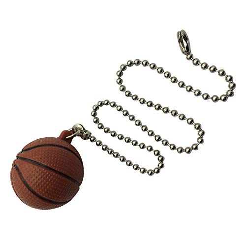 Ceiling Fan Pull Chains Basketball Pendant,12 inch Pull Chain Decoration for Lighting Celing Fan (Nickel)