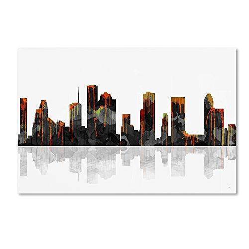 Houston Texas Skyline Wall Decor by Marlene Watson, 30 by 47