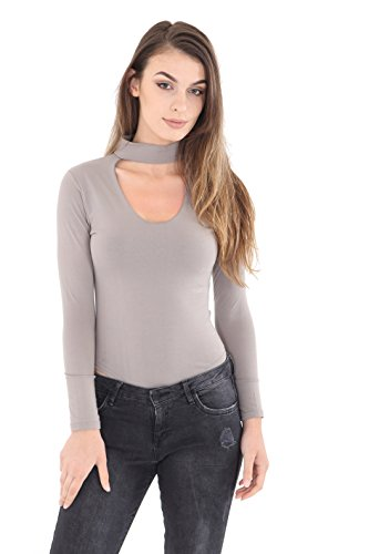 GW CLASSYOUTFIT® - Camisas - para mujer gris claro