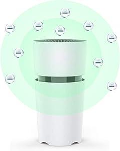 Car Air Purifier HEPA Air Purifiers for Bedroom Office Home Personal Portable Mini Small Desktop Air Purifier Air Filter Desk Ionizer USB Air Cleaner Freshener