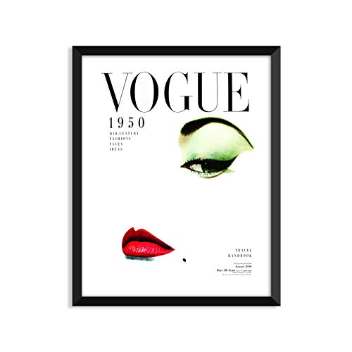 Vogue 1950 Magazine Cover - Unframed art print poster or greeting card -