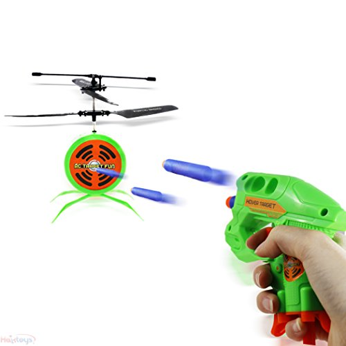 Haktoys Hak207 Rc Flying Target Shooting Game   Ultimate Radio Control Gun Shooting Fun   Excellent Accessory For Nerf Guns   Gift And Toy For Kids  Teens  And Adults