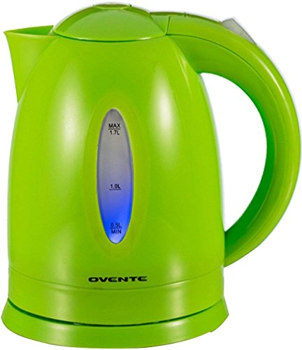 Ovente 1.7L BPA-Free Electric Kettle, Fast Heating Cordless Water Boiler with Auto Shut-Off and Boil-Dry Protection, LED Light Indicator, Green (KP72G)