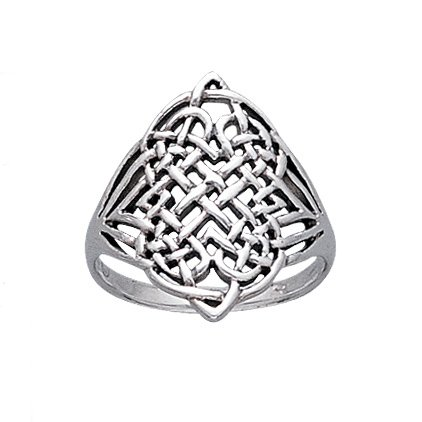 Large Intricate Four Point Celtic Eternity Knot Sterling Silver Ring Size 9(Sizes 3,4,5,6,7,8,9,10,11,12,13,14,15) (Sterling Silver Four Point)