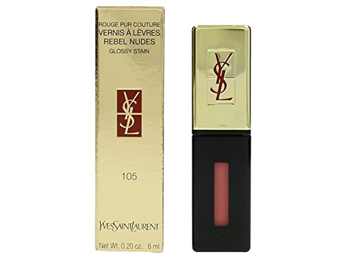 Yves Saint Laurent Rouge Pur Couture Vernis A Levres Rebel Nudes Glossy Stain, No. 105, 0.2 Ounce