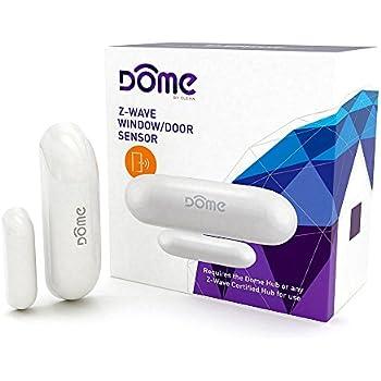 Dome Home Automation Miniature, Z-Wave Plus Door/Window Sensor, Modern, White (DMWD1)