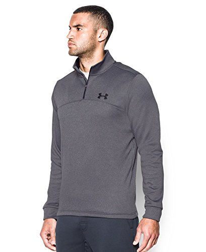 Under Armour Men's Storm Armour Fleece 1/4 Zip, Carbon Heather (090)/Black, Small by Under Armour (Image #1)
