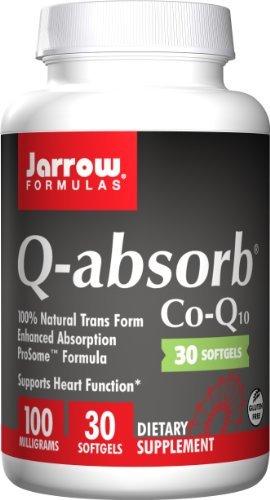 Jarrow Formulas Q-Absorb Co-Q10, 100mg,120 softgels (pack of 2)