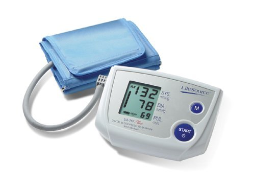 Monitor Pressure Blood Inflate (LifeSource UA-767PV One Step Auto Inflate Blood Pressure Monitor with Medium Cuff)