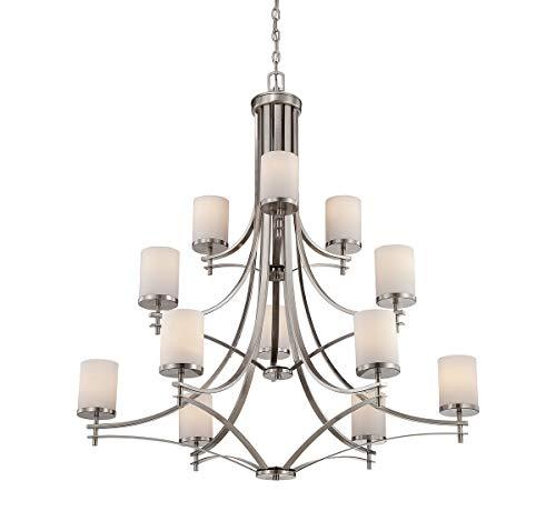 (Savoy House 1-332-12-SN Colton 12 Light Chandelier in Satin Nickel)