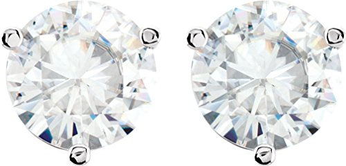 1/2 Cttw Charles and Clovard 14k Yellow Gold Moissanite Solitaire Earrings by The Men's Jewelry Store (Unisex Jewelry)