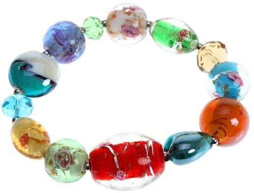 Multi Colored Glass Beaded Bracelet (Lova Jewelry