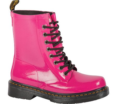 Dr. Martens Dames Drench 8-eye Laars Tartan Hot Pink