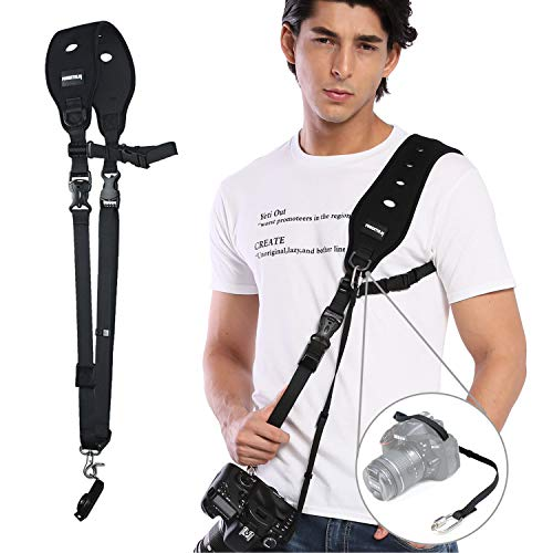 Prowithlin Camera Strap with Safety Tether Mounting Plate for DSLR SLR...