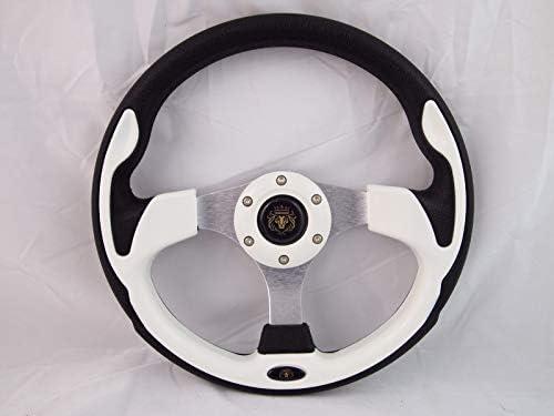 New World Motoring 12.5 Green Steering Wheel W Adapter Ez-go Polaris Ranger Club car Harley Kubota