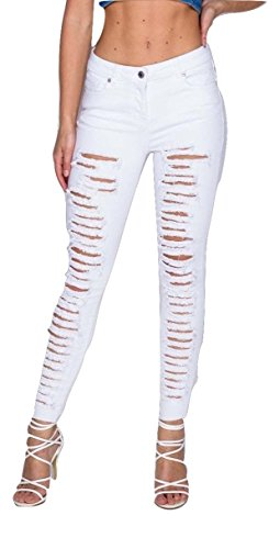 White Momo amp;ayat Fashions Jeans Donna OOgHAw