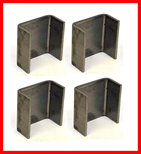 4-2 x 4 Steel Weld On Trailer Truck Stake Pocket Board Holder 7 Gauge 3/16