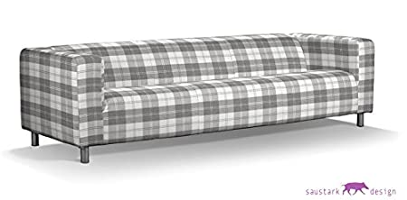 Saustark Design saustark design dundee cover for ikea klippan sofa 4 seater light