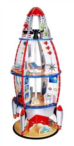 amazon com kids boys rocket bookshelf bookcase book shelf w rh m amazon com Boys Bookcase Bed Boys Bookcase Plan