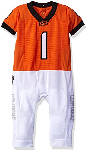 - Fast Asleep Ncaa Boys Infant Football Uniform Pajamas, Oklahoma State Cowboys,3-6 Months, Orange
