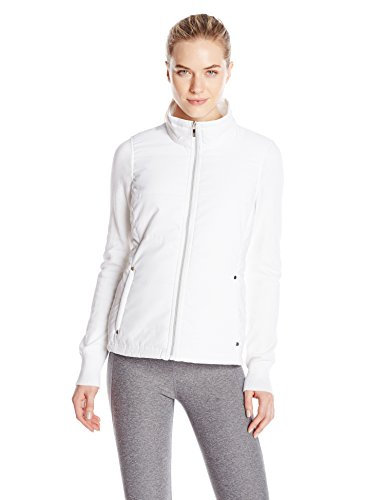 (Cutter & Buck Women's CB Weathertec Cora Quilted Sweater Jacket, White, S)