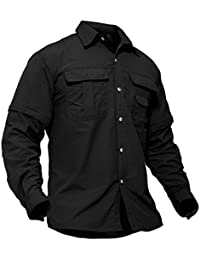 Men's Breathable Quick Dry UV Protection Solid Long Sleeve Shirt