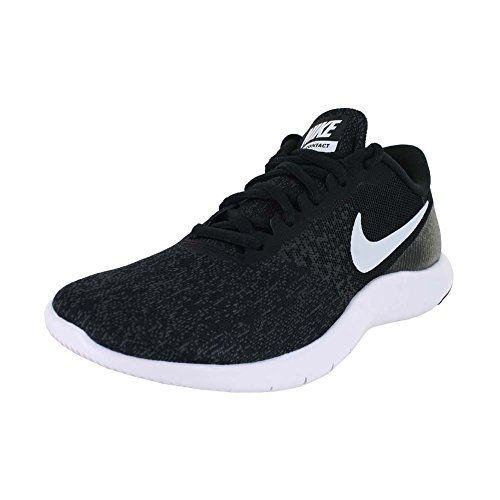 Nike Womens Flex Contact Black/White/Anthracite Running Shoe 9.5 Women US