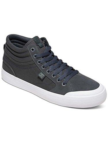 Zapatos DC Evan Smith Signature Series - Suede Dark Gris-blanco