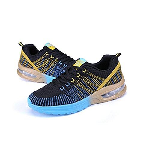 slip traspirante scarpe Bebete5858 marchio estive uomo scarpe pelle scarpe confortevole estate casual morbido vera da blu moda uomo mesh on in PPCBq
