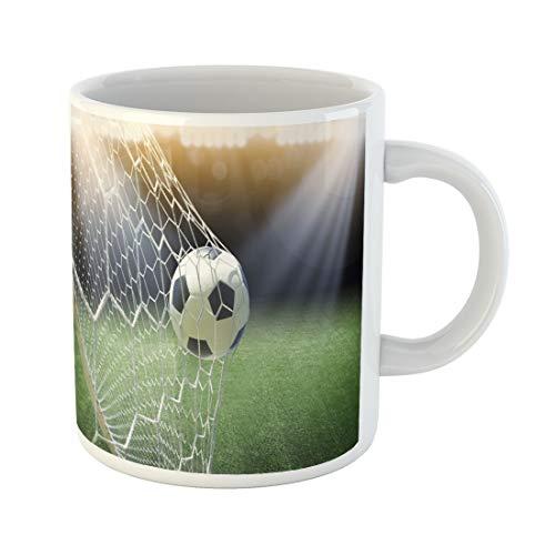 - Tinmun 11 Oz Coffee Mug Green Football Soccer Ball in Goal Gate Grass Win Decor Lover Funny Mug Birthday Gift Coffee Tea Cup Mugs