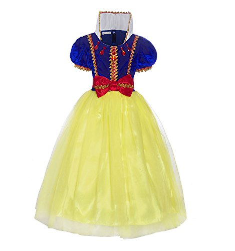 ReliBeauty Girls Snow White Princess Costume Pullover Dress,