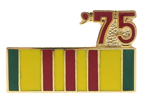 Sujak Military Items Vietnam Service Ribbon 1975 Hat or Lapel Pin HON14803 ()