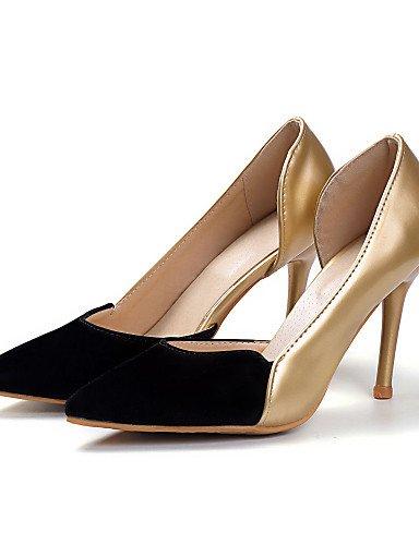 Uk6 Vestido Cn39 Leopardo Stiletto Golden Oro Zapatos plata tacones Trabajo Eu39 Eu35 Uk3 tac¨®n Puntiagudos Mujer oficina us8 tacones Leopard Y pu Casual De Cn34 Zq us5 wRxIqa1PpP