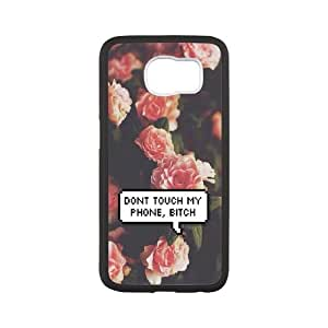 Diy Don't touch my phone Case Cover, DIY Protective Cover Case for SamSung Galaxy S6 Don't touch my phone