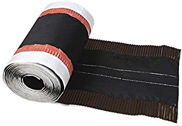 In weiteren Farben erh/ältlich starke Haftung und hohe Flexiblit/ät auch bei profilierten Dachziegel Premio 5m Aluminium Firstrolle // Gratrolle Made in Germany Breite: 340mm Farbe: braun