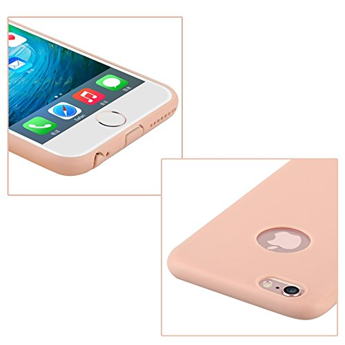 Baseus Étui de protection souple mousse Case Series/en TPU ultra fin/slim/pour Apple iPhone 6 Plus & 6S Plus dans rose Rose