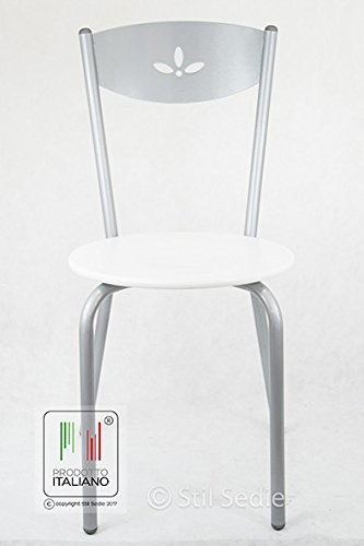 Stil Sedie - sedia cucina moderna metallo con seduta in legno ...