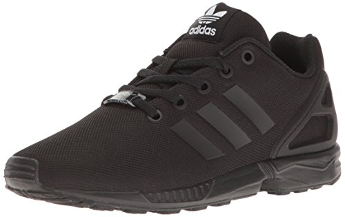 adidas Originals Boys' ZX Flux J Running Shoe, Black, 4 M US Big Kid