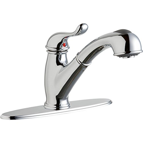 Elkay LK4000CR Everyday Chrome Single Lever Pull-out Spray Kitchen Faucet