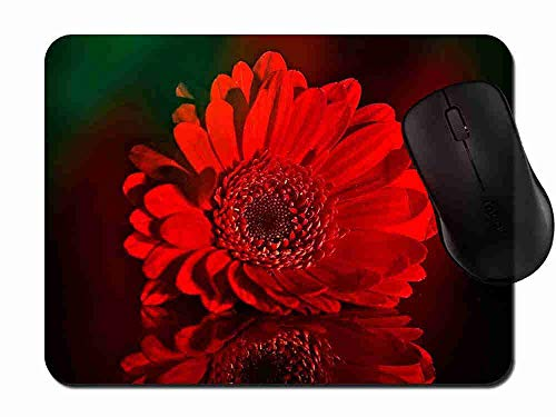 Mouse Pad Gaming Beautiful Red Gerbera Daisy, Premium-Textured Surface, Non-Slip Rubber Base, Laser Optical Mouse Compatible, Mouse mat 1H268 - Gerbera Daisy Base